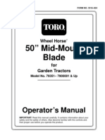 WheelHorse Mid Mount 50 inch grader blade 79351