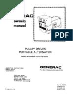 Wheel Horse Pulley driven Generac portable generator owners manual