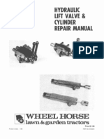 WheelHorse hydraulic lift valve and cylinder repair manual 810242R1