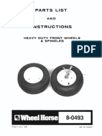 WheelHorse Heavy Duty Front Spindle and Wheel Kit 8-10504R1