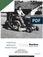 WheelHorse 300 and 400 series owners manual
