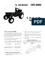 WheelHorse 8,10,12,14, 8 Speed parts manual