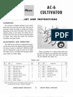 WheelHorse Cultivator AC-6