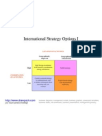 International Strategy Options I Matrix Diagram