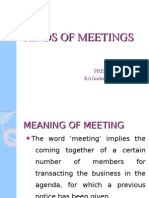 KINDS OF MEETINGS
