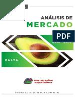 Análisis de Mercado - Palta 2015 - 2019 Todo Info