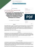 352ncia e Tecnologia de Alimentos - Determination of the pectinase concentration in hydrolysis - saccharification process for e)