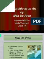 Leadership is an Art by Depree