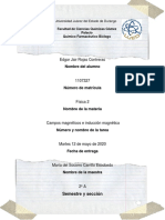 Edgar Jair Rojas Contreras 2A Campos Magneticos e Induccion Magnetica