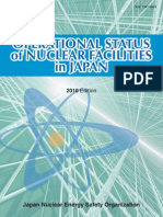 Operational Status of Nuclear Facilities in Japan 2010 Edition by The Japan Nuclear Energy Safety Organization