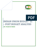 Indian Union Budget - Post Budget Analysis