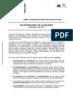 Manifiesto CNSE. DÍA INTERNACIONAL DE LAS MUJERES