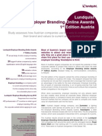Lundquist Employer Branding Online Awards Austria Executive Summary