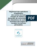 Référentiel CDT règlement des opérations