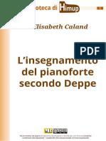 Caland - L'insegnamento del pianoforte secondo Deppe
