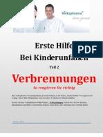 Verbrennungen - Erste Hilfe Maßnahmen bei Kinderunfällen