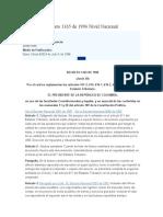Decreto 1165 de 1996 Nivel Nacional
