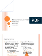 Microsoft PowerPoint - Appositive & Infinitive Phrases