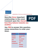 Relationships in the novel - obs lesson