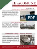 Notizie Dal Comune di Borgomanero del 07-05-2021