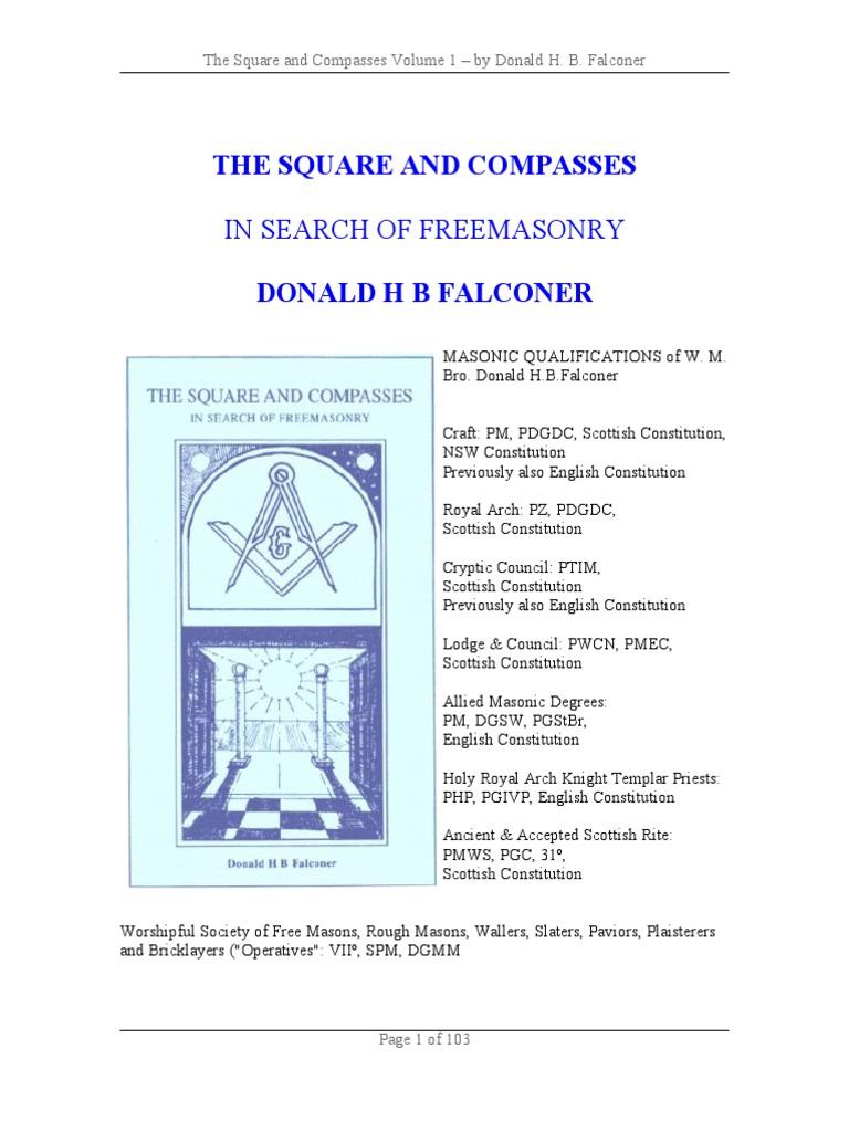 Falconer Don ~ The Square And Compasses - Volume 1 [pdf