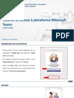 1.Tutorial de Acesso à Plataforma Microsoft Teams - Versão Celular