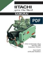 Catálogo Técnico Chiller PARAFUSO a ÁGUA WSZ IHCT1-RCUAG010 Rev03