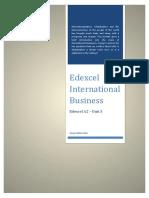 Edexcel International Business for A2 by Quazi Nafiul Islam