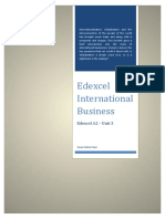 Edexcel International Business for A2 by Quazi Nafiul Islam