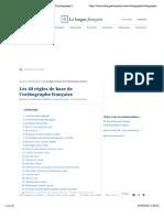 [orthographe] Les 40 règles de base de l'orthographe française