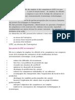 La gestion prévisionnelle des emplois et des compétence1
