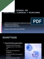 INFECCIONES CAUSADAS POR RICKETTSIAS, CLAMIDIAS Y MICOPLASMAS