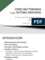 INFECCIONES BACTERIANAS DEL SISTEMA NERVIOSO