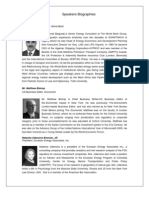 World Energy Forum - Speakers Bios