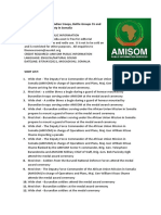 NEWS ARTICLE and SHOT LIST- AMISOM Burundian Troops, Battle Groups 55 and 56 End Their Tour of Duty in Somalia