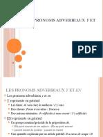 Les Pronoms Adverbiaux y Et en - Resumen
