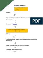 PROPIEDADES de LA POTENCIACIÓN en Q Pregunta 2 (1er Trabajo de Matematica) Emiliano