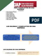 Diapositiva de Dilemas y Conflictos
