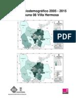 Perfil Demografico 2005-2015 Comuna 08