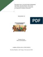 Hoja de Trabajo, Bioquimica II
