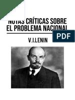 Lenin, notas criticas sobre el problema nacional