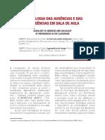 Texto_A SOCIOLOGIA DAS AUSÊNCIAS E DAS EMERGÊNCIAS EM SALA DE AULA