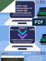 SNI - Paso a Paso Población Regular 2021