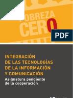 Integracion de las TIC - Asignatura pendiente en la Cooperación. CONGDE. Acevedo, Manuel (2006) en la Cooperacion