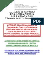 Instrucao matricula_ENGENHARIA_PRIMEIROSEMESTRE2011