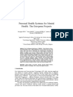 Personal Health Systems for Mental Health- The European Projects