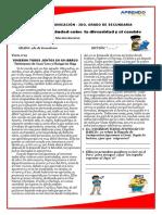 FICHA DE  TRABAJO N°04 DE COMUNICACION