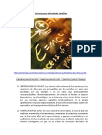 Modulo 2 - 2 - Los Tres Pasos Del Método Científico