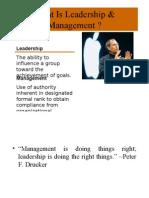 Leadership Managemnet