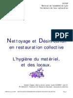 Nettoyage et desinfection en cuisine et restauration - Copie